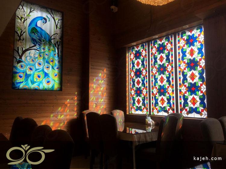 شیشه های استین گلس رستوران میلاد