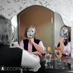 آینه سه لت دکوپاژ ( آینه سه تکه میکاپ )