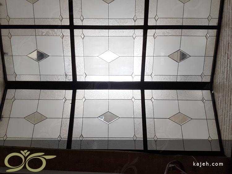 سقف پاسیو با شیشه استین گلس