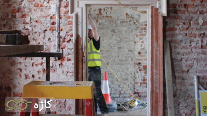 تخریب قسمتی از خانه برای بازسازی