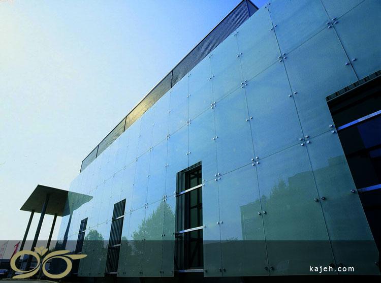 اجرای نمای شیشه ساختمان - کاژه