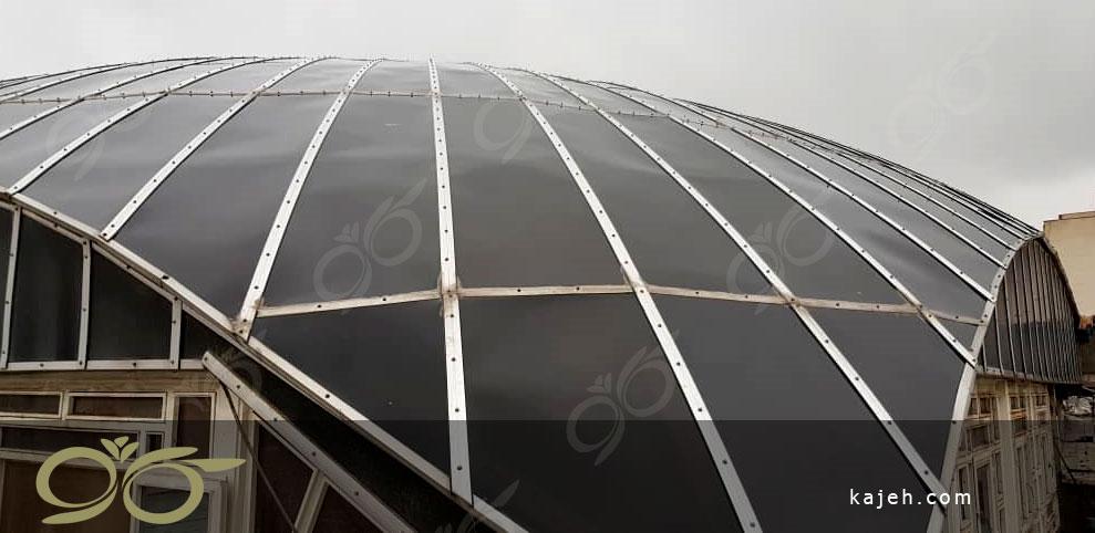 گنبد پلی کربنات - مرمت گنبد حسینیه هدایت