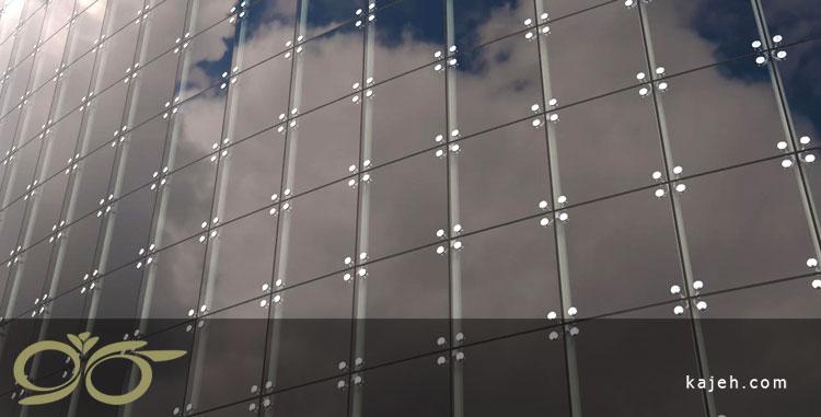 نمای شیشه ای اسپایدر - کاژه