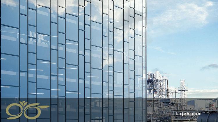 نمای شیشه ای کرتین وال - کاژه